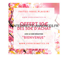 code promo boutique evercosmetics.fr